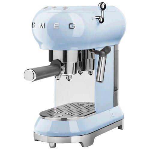 Кофеварка рожковая smeg ECF01 пастельно-голубой