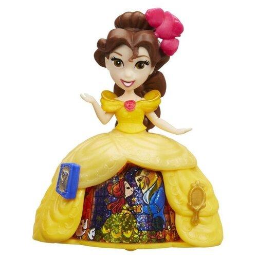 Кукла Hasbro Disney Princess Маленькое королевство Белль в волшебном платье, 8 см, B8964 hasbro кукла одри светлые герои в платьях для коронации наследники disney