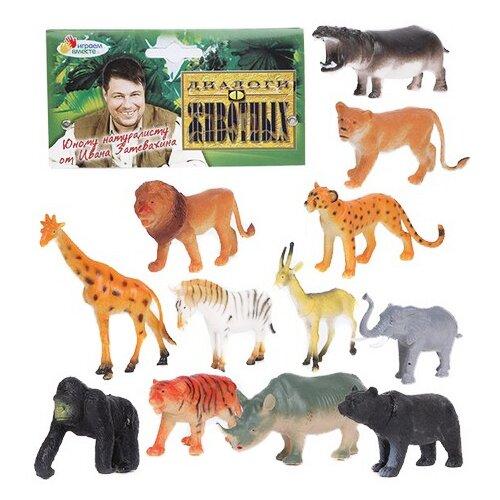 Купить Фигурки Играем вместе Диалоги о животных Дикие животные P9804/12, Игровые наборы и фигурки