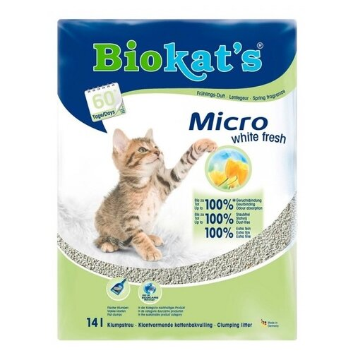 Комкующийся наполнитель Biokat's Micro White Fresh 14 л