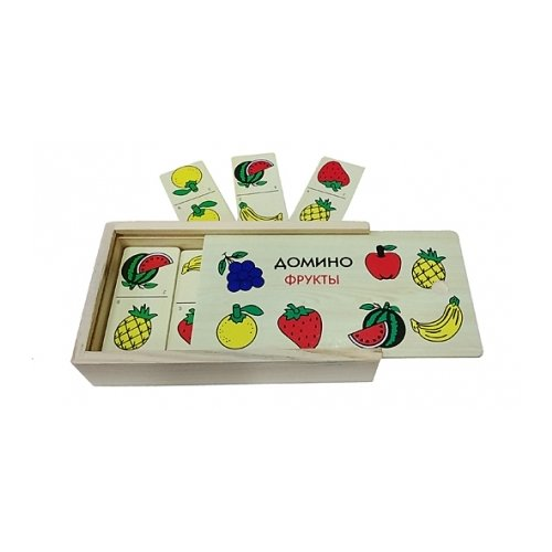 Купить Настольная игра Рыжий кот Домино Фрукты ИД-1473, Настольные игры