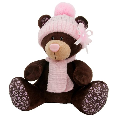 Купить Мягкая игрушка Orange Toys Мишка Milk в розовой шапке 30 см, Мягкие игрушки