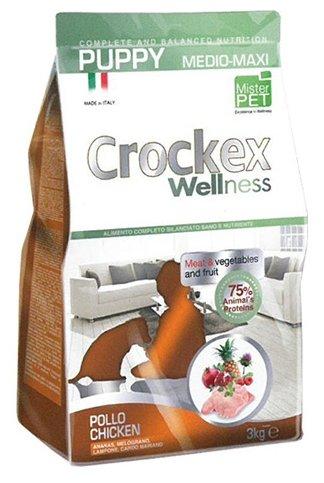 Корм для собак Crockex Wellness Puppy Medio-Maxi курица с рисом