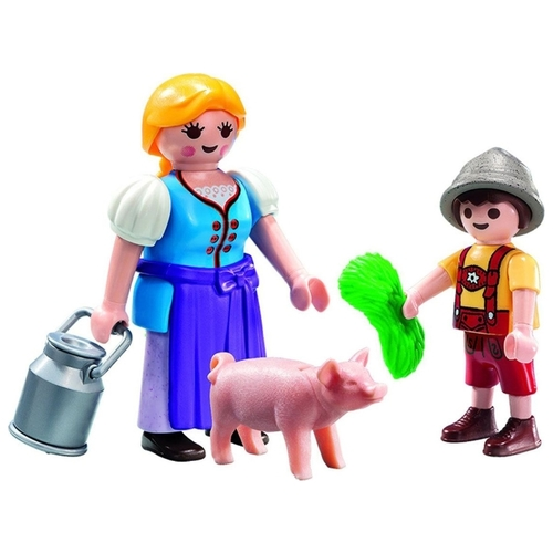 Набор с элементами конструктора Playmobil Country 5514 Крестьянка и мальчик
