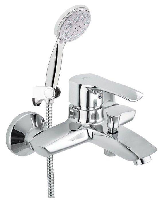 Смеситель для ванны с душем Rubineta Artis-10/K однорычажный лейка в комплекте хром