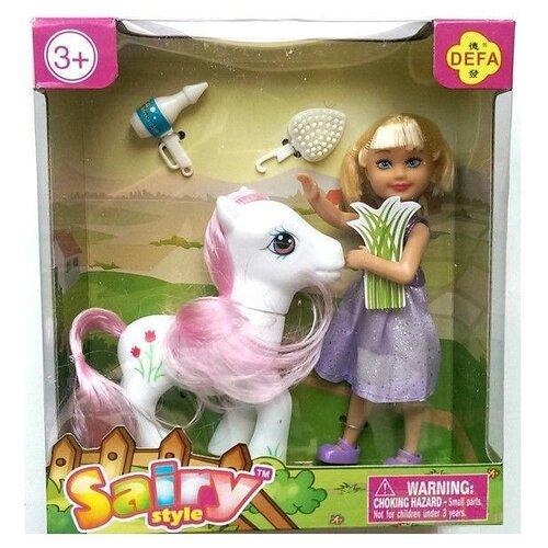 Кукла Defa Lucy Сайри с пони, 13 см, 8303