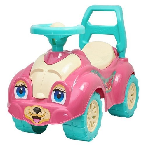 Купить Каталка-толокар RT Zoo Animal Planet Кошка Т0823 (5245) со звуковыми эффектами розовый, Каталки и качалки