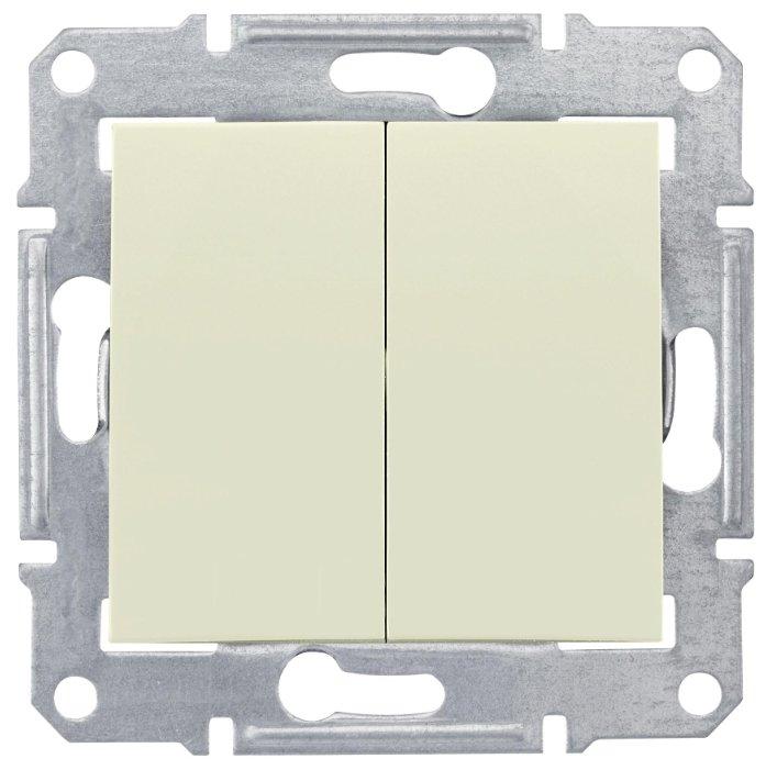 Выключатель 2х1-полюсный Schneider Electric SEDNA SDN0300147, 10А , бежевый