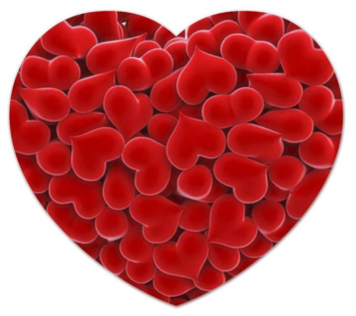 Коврик Printio Валентинка (сердце)