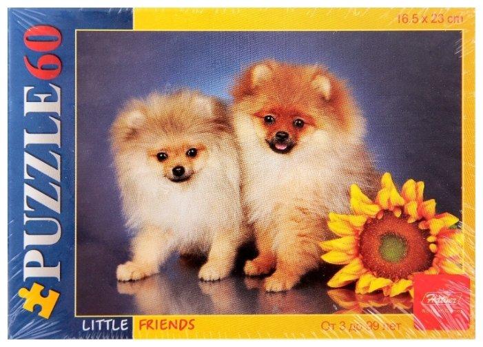 Пазл Hatber Little Friends Щенки и подсолнух (60ПЗ5_10335), 60 дет.
