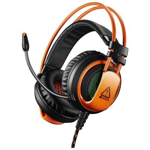 Компьютерная гарнитура Canyon CND-SGHS5 черный/оранжевый canyon cnd tpbqc10b 10000 мач черный