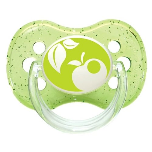 Купить Пустышка силиконовая классическая Canpol Babies Nature 0-6 м (1 шт) зеленый, Пустышки и аксессуары