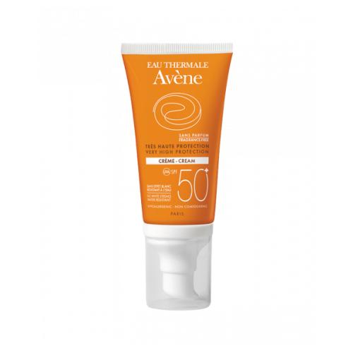 AVENE Крем солнцезащитный без отдушек SPF 50 50 мл avene питательный компенсирующий крем 50 мл