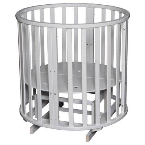 Кроватка Антел Северянка 3 колесо (трансформер), поперечный маятник белый кроватка антел северянка 3 6 в 1 маятник поперечный колесо круглая 75 75 овал 125 75 белый