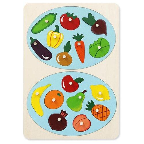 Рамка-вкладыш Крона Фрукты-овощи (143-070), 18 дет.