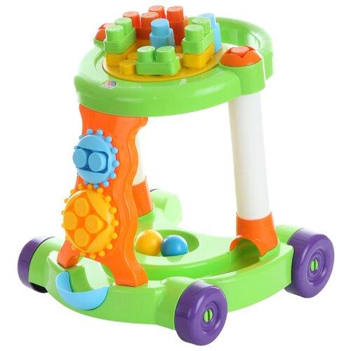 Каталка-ходунки Molto Игровая с конструктором (58133 / 58140) зеленый/оранжевый цена 2017