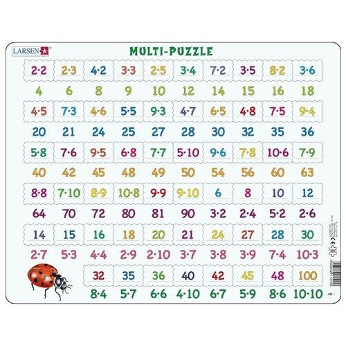 Купить Рамка-вкладыш Larsen Математика Умножение (AR1), 58 дет., Пазлы
