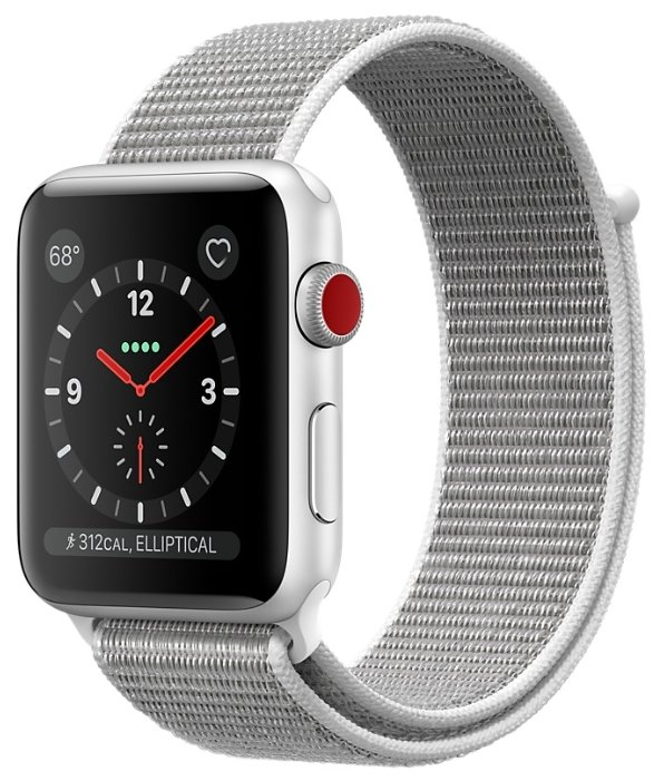 Часы Apple Watch Series 3 Cellular 42mm Aluminum Case with Sport Loop