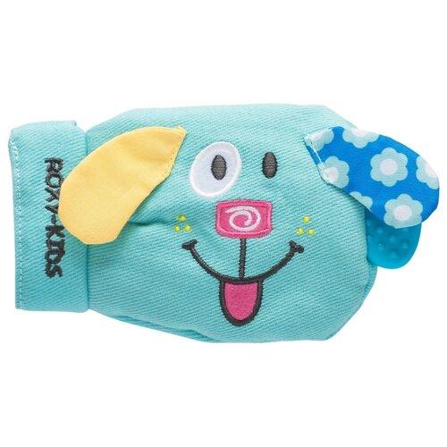 Прорезыватель ROXY-KIDS Игрушка-рукавичка Вуффи RBT20029 голубой