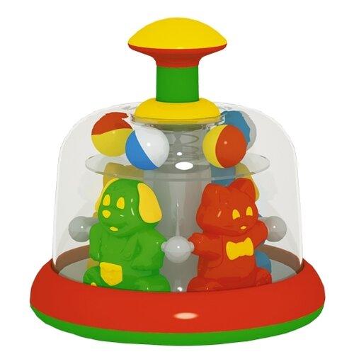 Юла-карусель Stellar Цирк, упаковка коробка (01388) красный/желтый игрушка chuc юла