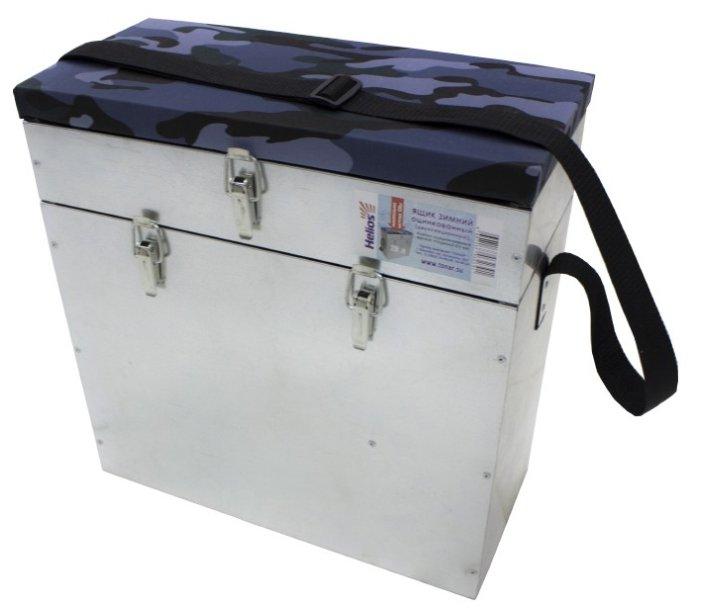 Ящик для рыбалки HELIOS зимний оцинкованный (28л) 38.5х18х40.5 см