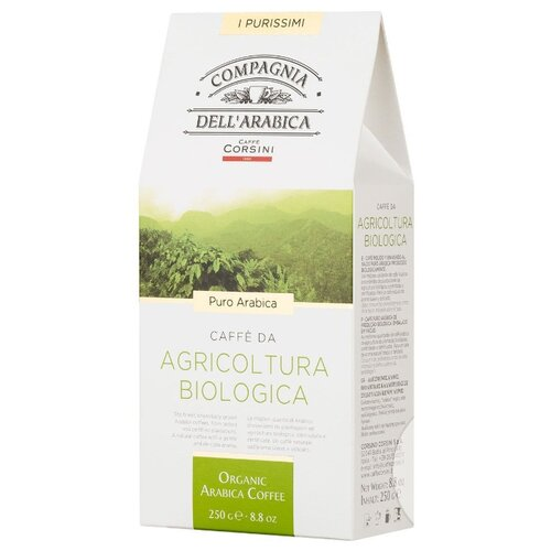 цены Кофе молотый Compagnia Dell`Arabica Agricoltura Biologica, 250 г
