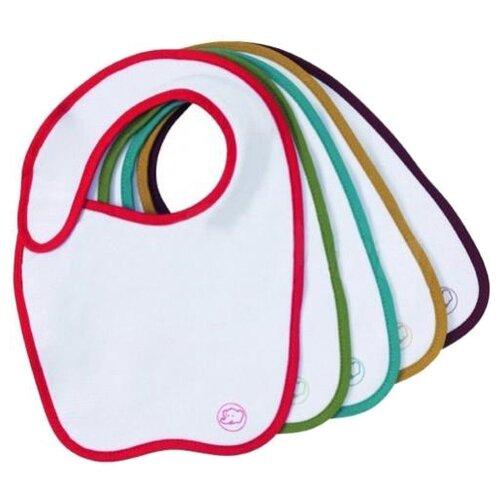 Купить Bebe confort Набор нагрудничков Sport (5 шт), 5 шт, расцветка: розовый/зеленый/голубой/коричневый/фиолетовый, Нагрудники и слюнявчики
