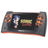 "Sega Genesis Gopher 2 LCD 4.3"", +500 игр оранжевая ConSkDn50"