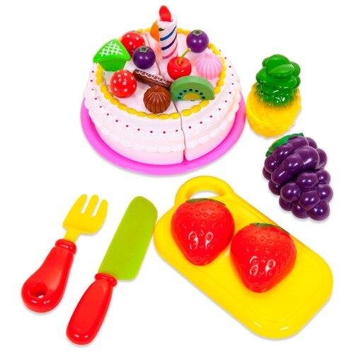 Набор продуктов с посудой ABtoys Помогаю Маме PT-00282(WZ-A0380) разноцветный