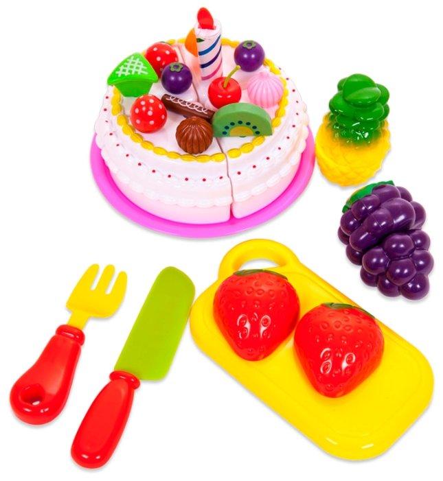 ABtoys Набор продуктов для резки, 21 предмет