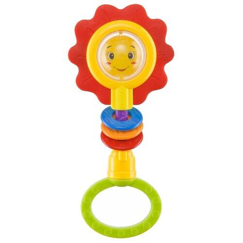 Прорезыватель-погремушка Happy Baby Flower Twist разноцветный