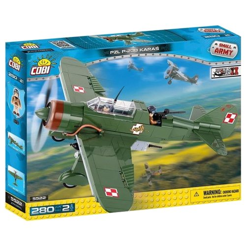 Конструктор Cobi Small Army World War II 5522 PZL P-23B КарасьКонструкторы<br>