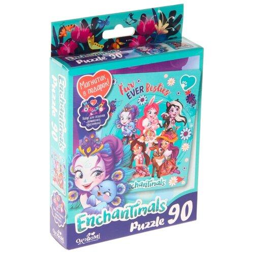 Пазл Origami Enchantimals Fur ever Besties (03552), 90 дет.
