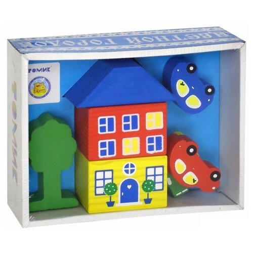 Кубики Томик Цветной городок голубой 8688-3 томик кубики алфавит с цифрами