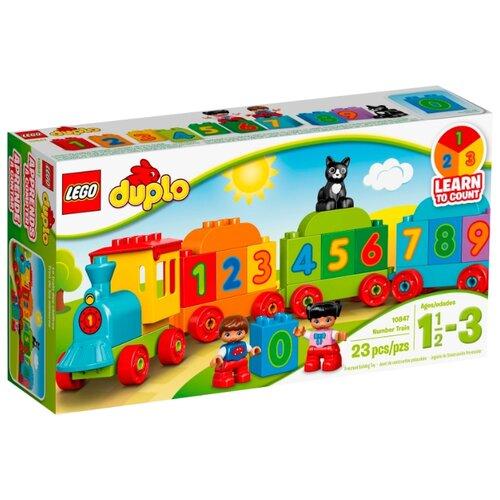 Фото - Конструктор LEGO DUPLO 10847 Поезд Считай и играй конструктор lego duplo my first поезд для животных 10955