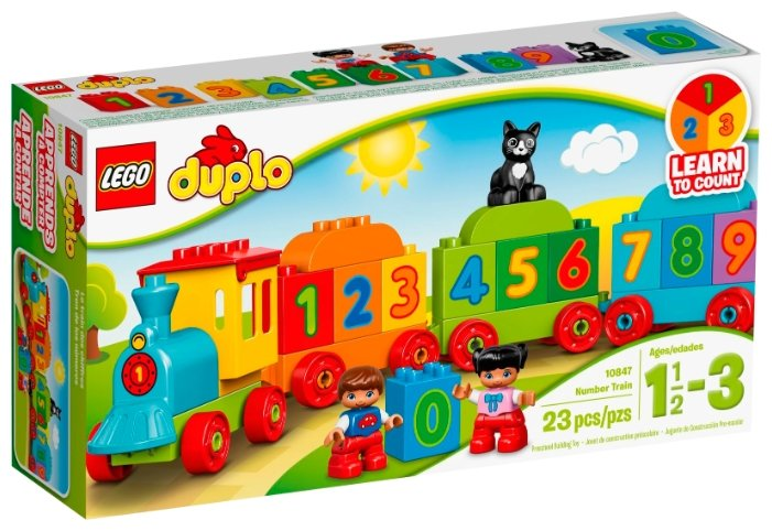 Конструктор Lego DUPLO 10847 Поезд «Считай и играй»