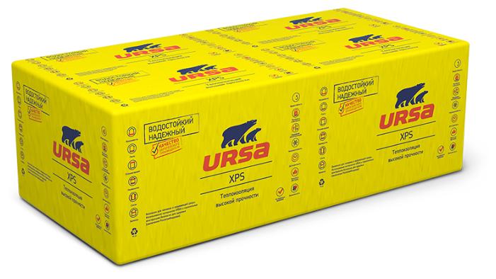 Экструдированный пенополистирол (XPS) URSA XPS N-III-G4 125х60см 30мм 12 шт