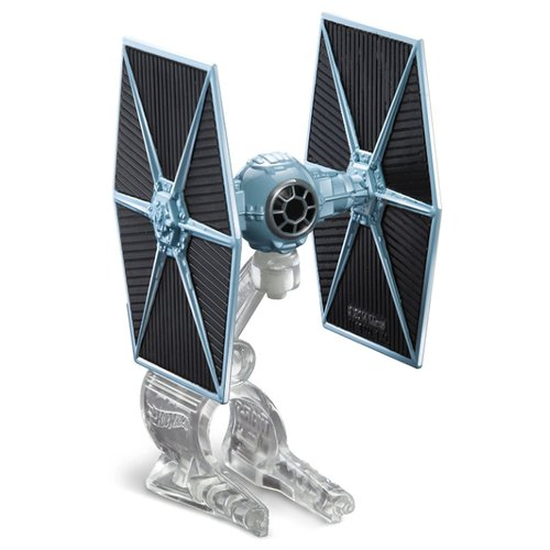 Купить Звездолет Mattel Hot Wheels Звездные войны Звездный истребитель TIE (CGW52/DRX09) 4 см черно-голубой, Машинки и техника