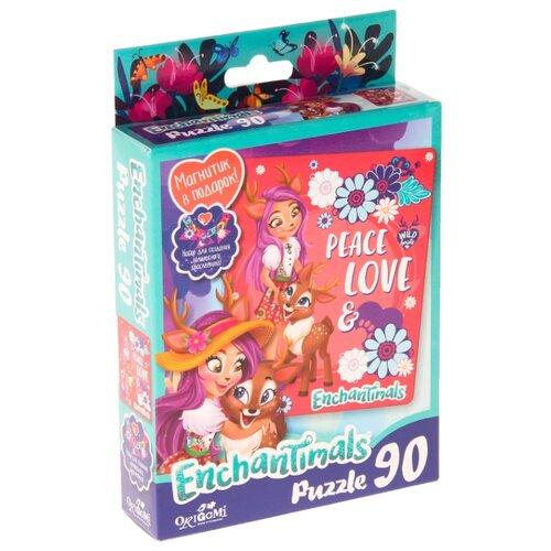 Купить Пазл Origami Enchantimals Peace and Love (03548), 90 дет., Пазлы