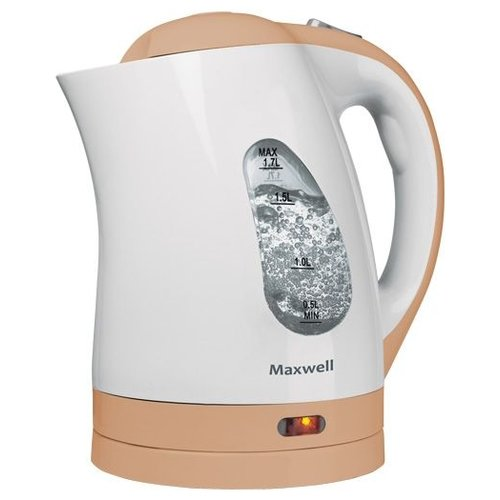 Чайник Maxwell MW-1014 BN, белый/бежевый чайник электрический maxwell mw 1083 стекло