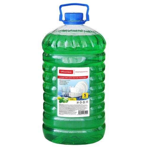 OfficeClean Средство для мытья посуды Алоэ и зелёный чай 5 л сменный блок