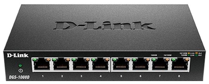 Коммутатор D-LINK DGS-1008D/J3A 8G