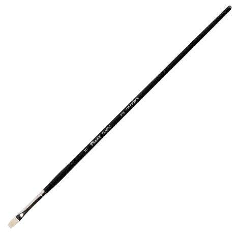 Кисть Pinax Artists Classic, синтетика №6, плоская, с длинной ручкой