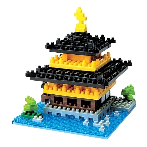 Конструктор Nanoblock Sights to See NBH-011 Кинкак Джи