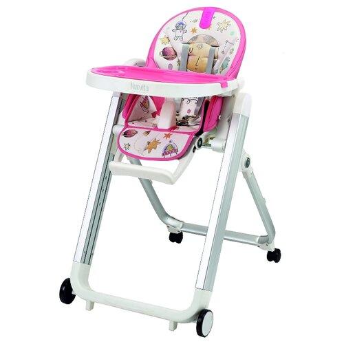 Купить Стульчик для кормления Nuovita Futuro Senso Bianco (Cosmo rosa/Розовый космос), Стульчики для кормления