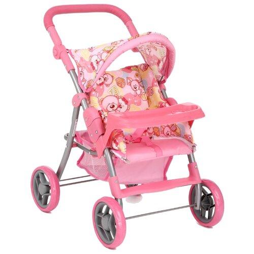 Прогулочная коляска Melobo / Melogo Со столиком (9337Е-Т) розовый/мишки/кубики коляска трансформер melobo melogo 9336 розовый цветочки