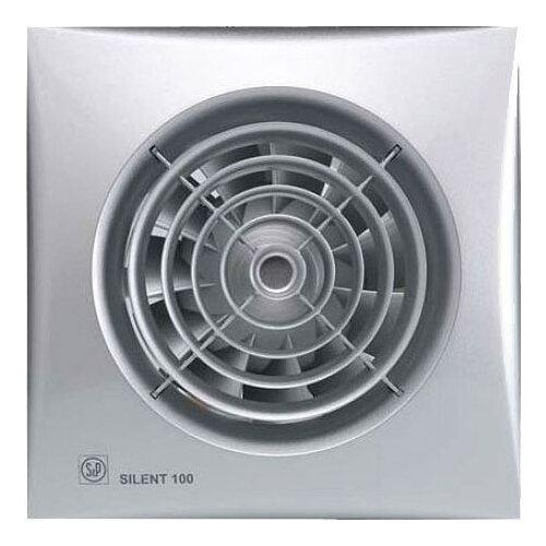 Вытяжной вентилятор Soler & Palau SILENT-100 CZ, silver 8 Вт