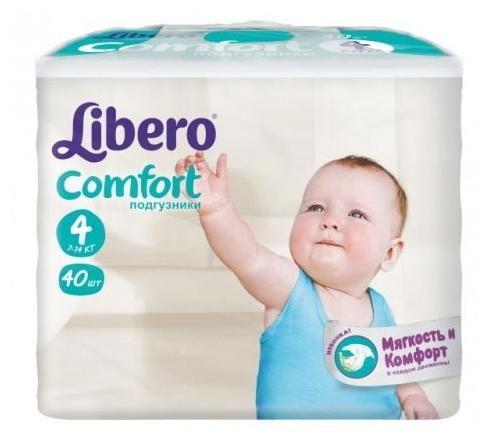 817c3e36f97a Купить Libero подгузники Comfort 4 (7-14 кг) 40 шт. по выгодной цене ...