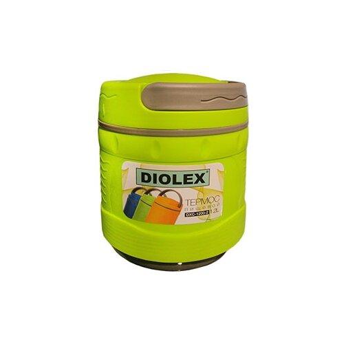 Термос для еды Diolex DXC-1200-2, 1.2 л зеленый