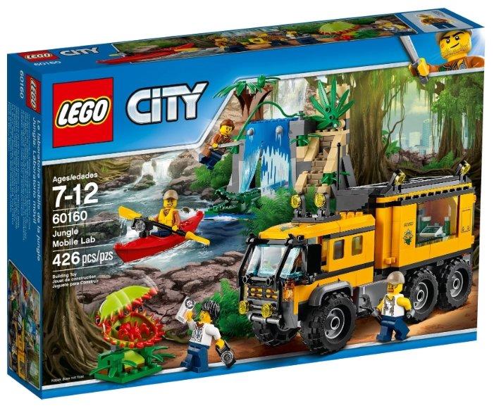 Конструктор LEGO City 60160 Передвижная лаборатория в джунглях